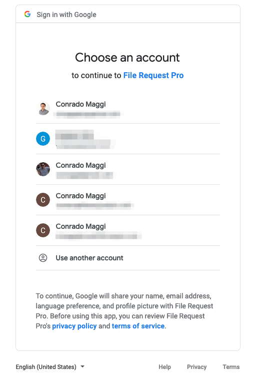 File Request Pro - Your page settings