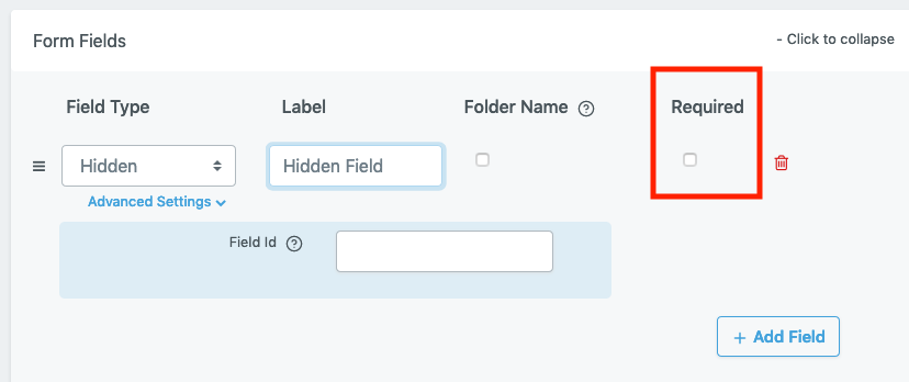 File Request Pro - Required fields