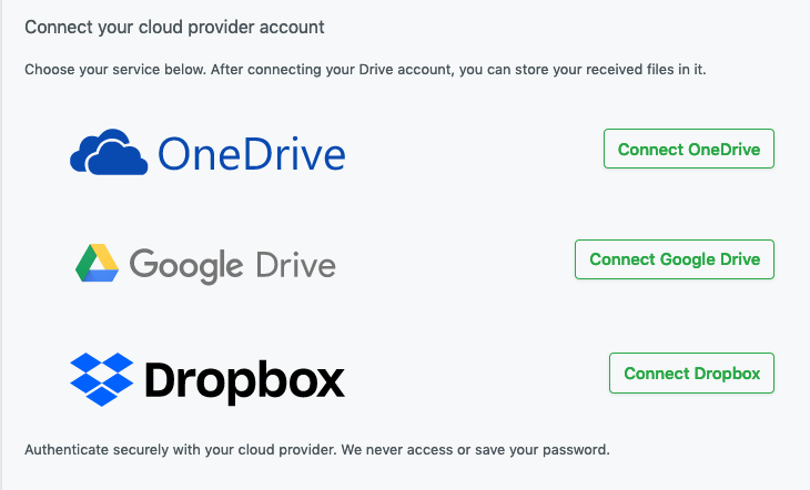 Integrate file drop with Google Drive